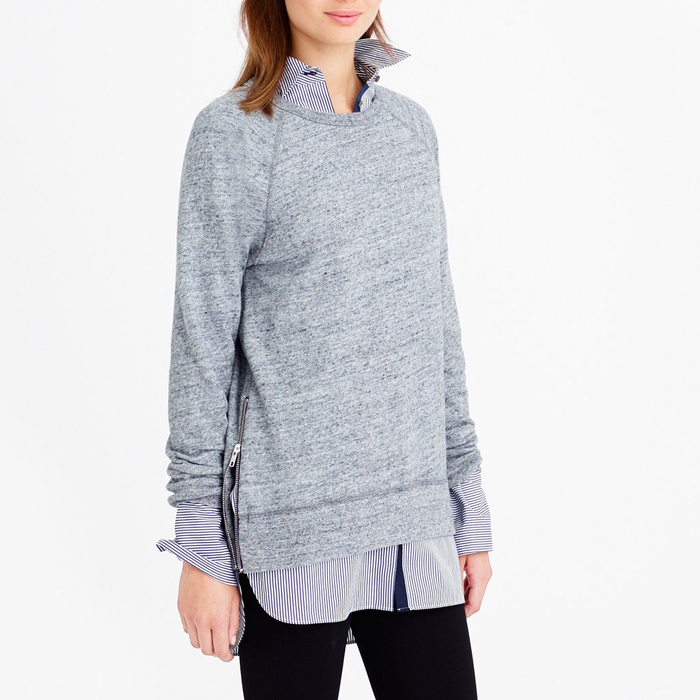 Best Loungewear for Fall - J.Crew Zip Tunic Sweatshirt