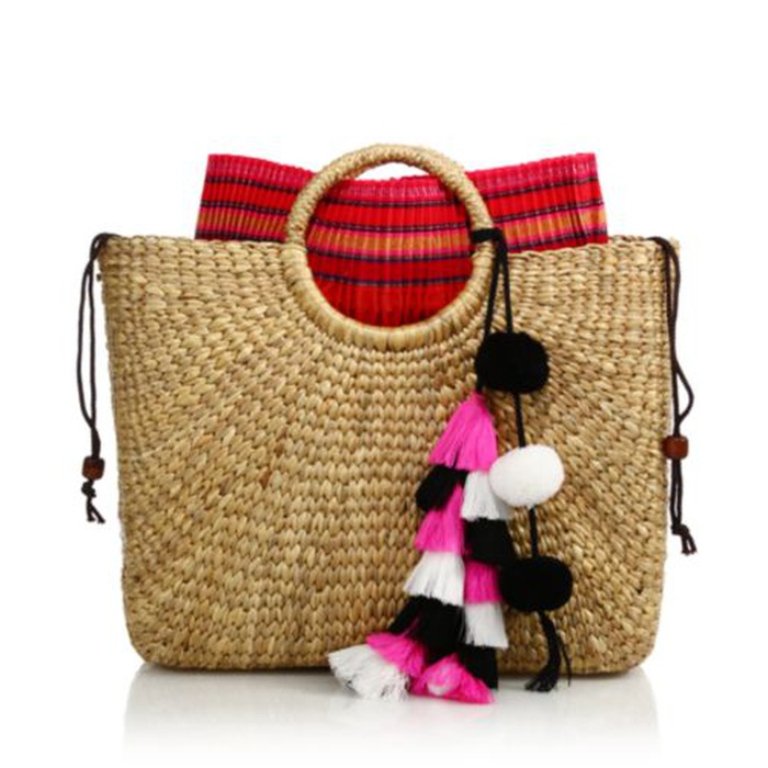 Best Beach Bags - JADEtribe Handwoven Tassel Basket