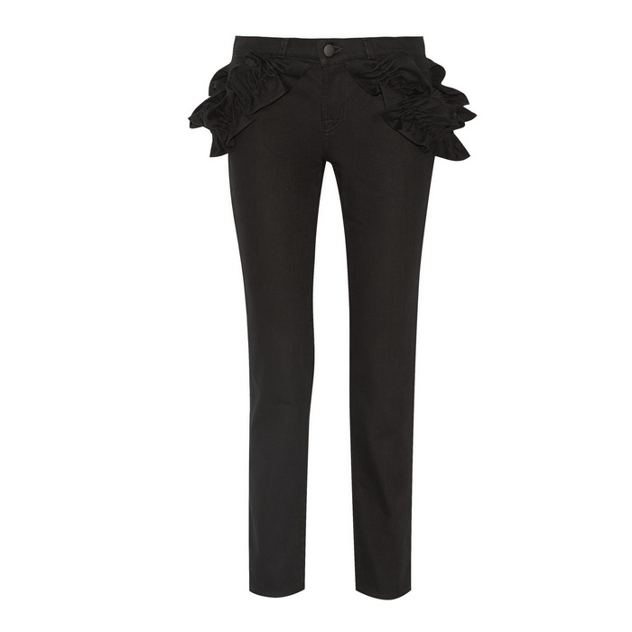 Best Winter Jeans - J Brand + Simone Rocha Jake Ruffled Boyfriend Jeans