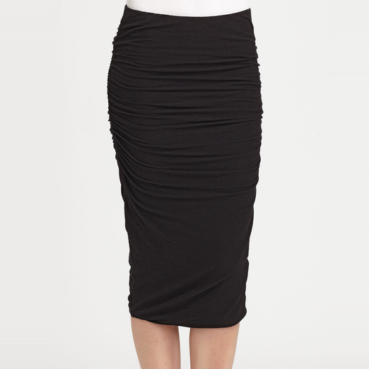 James Perse Ruched Pencil Skirt | Rank & Style