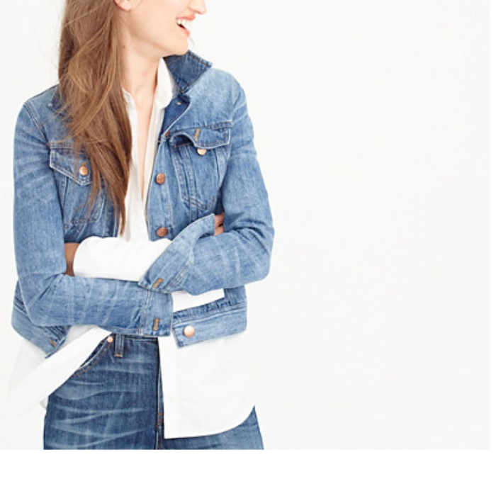 Best Denim Jackets for Cool Summer Nights - J.Crew Denim Jacket in Tyler Wash