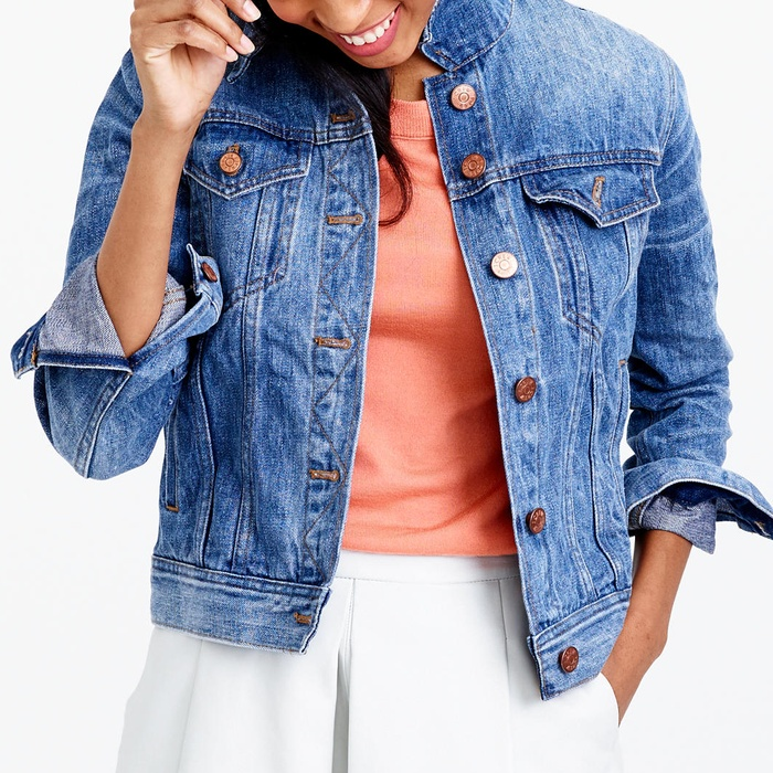 Best Denim Jackets - J.Crew Denim Jacket in Tyler Wash
