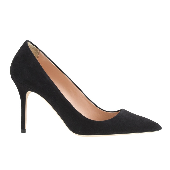 Best Black Suede Winter Pumps - J.Crew Elsie Suede Pumps