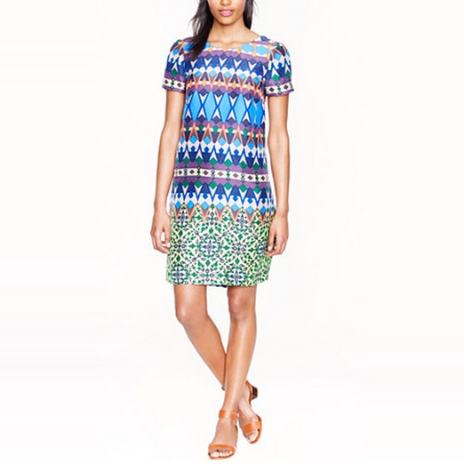 Best Work Dresses - J.Crew Gemstone Floral Silk Dress