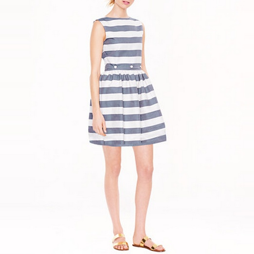Best Garden Party Dresses - J.Crew Maison Kitsuné® stripe Bali dress