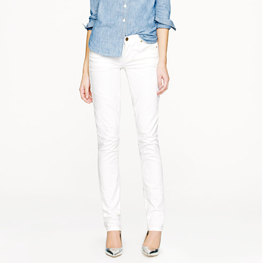 Best White Skinny Jeans - J.Crew Matchstick Jean in White Denim