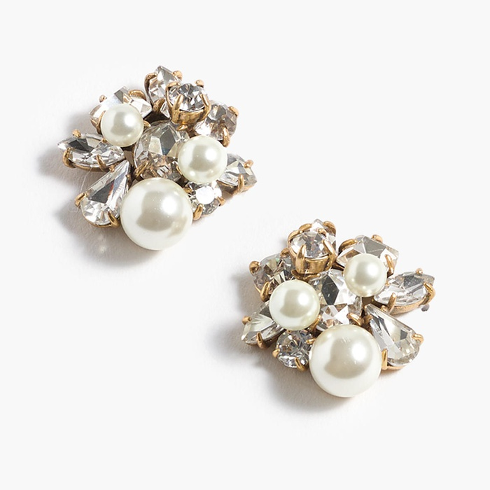 Best Bridal Earrings - J.Crew Pearl and crystal earrings