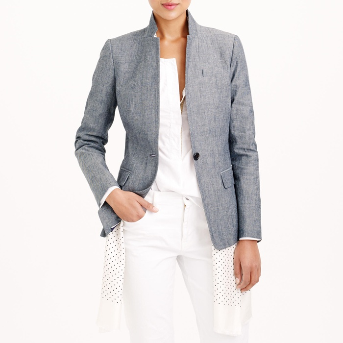 Best Summer's Best Chambray Fashion - J.Crew Regent Blazer in Chambray