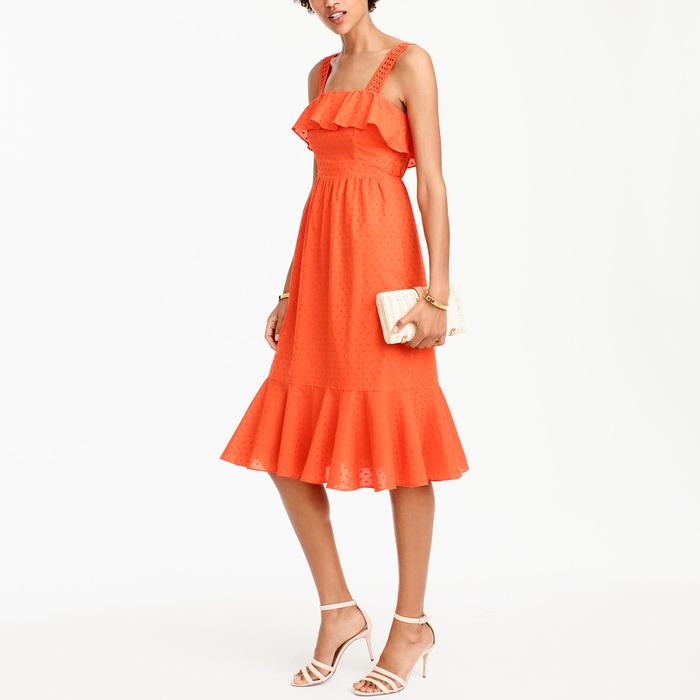 Best Summer Wedding Guest Dresses Under $150 - J.Crew Ruffle Eyelet Dress