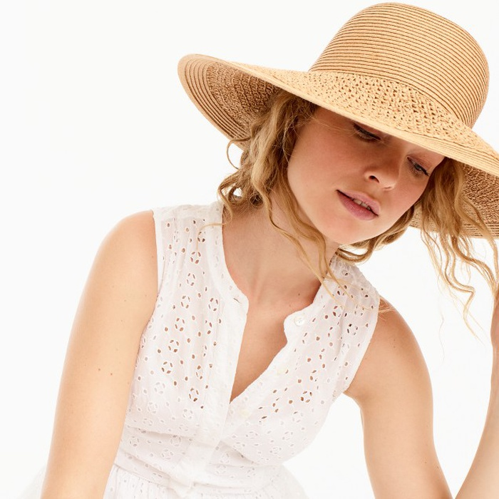 Best Straw Hats - J.Crew Textured Summer Straw Hat
