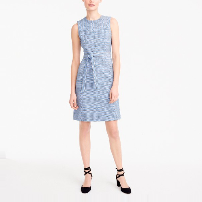 Best Spring Wear to Work Dresses - J.Crew Tie-Waist Dress in Italian Tweed
