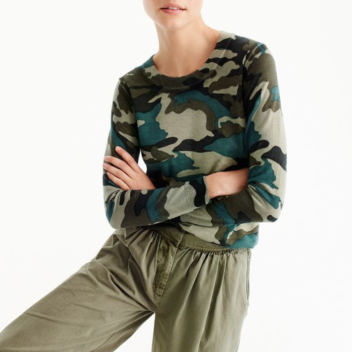 Best Lightweight Sweaters - J.Crew Tippi Sweater in Camouflage