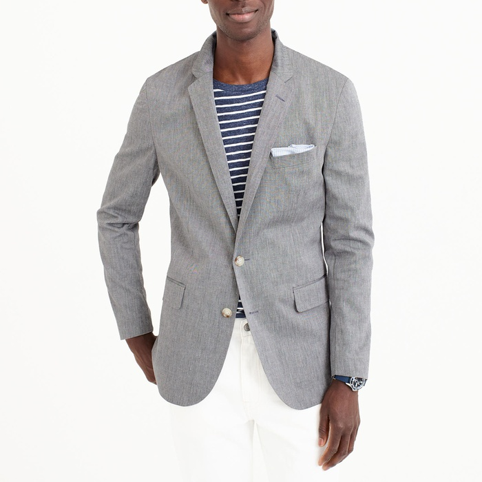 Best Men's Casual Blazers and Sports Coats - J.Crew Unstructured Ludlow blazer in stretch cotton