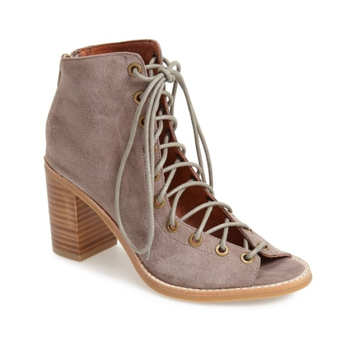 Best Peep Toe Booties - Jeffrey Campbell Cors Suede Booties