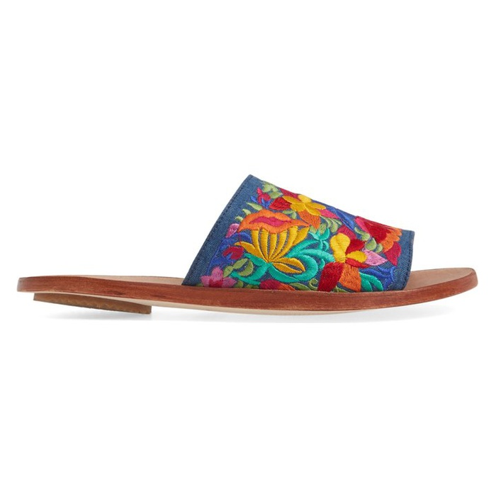 Best Embroidered Shoes - Jeffrey Campbell Kumari Slide Sandal