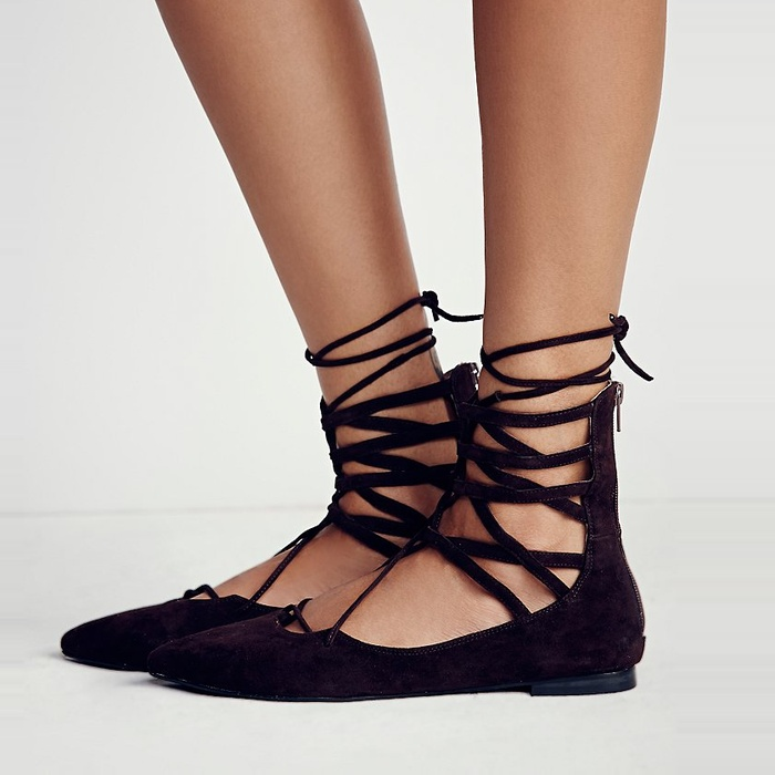 Best The Best Lace Up Flats, Heels and Boots - Jeffrey Campbell Shay Lace Up Flat