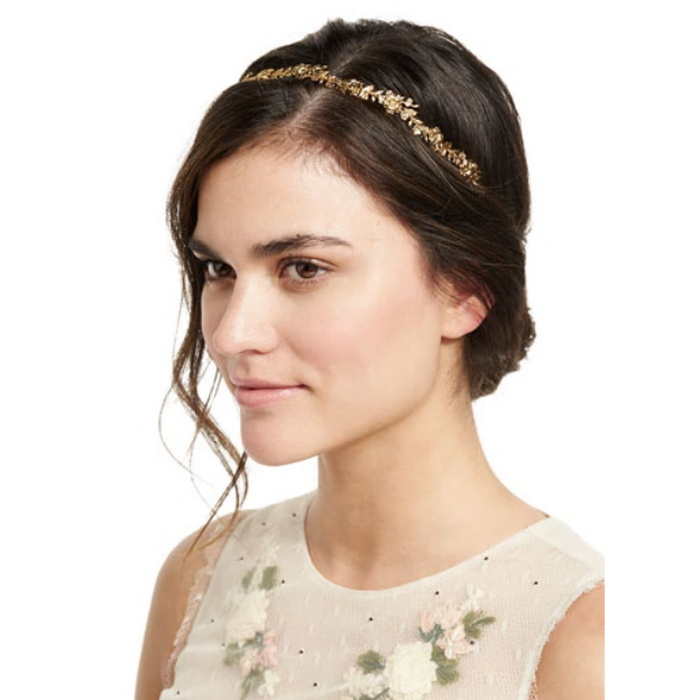 Best Bridal Hair Accessories - Jennifer Behr Arden Metal Bandeaux Headband