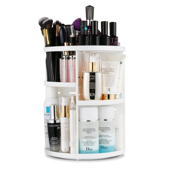 Best Makeup Organizers - Jerrybox 360 Degree Rotation Adjustable Multi-Function Cosmetic Storage Box