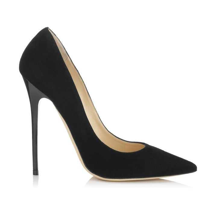 Best Black Suede Winter Pumps - Jimmy Choo Anouk Suede Pumps