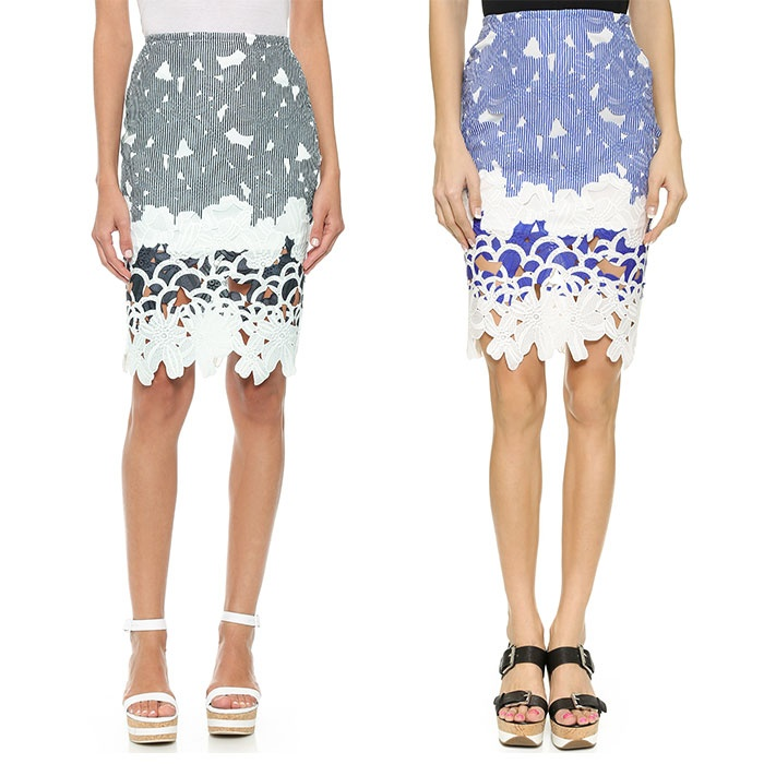 Best Perforated & Laser Cut Bests - J.O.A. Floral Laser Skirt