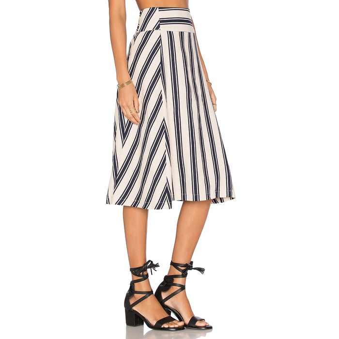 Best Midi Skirts Under $200 - J.O.A. Stripe Midi Skirt