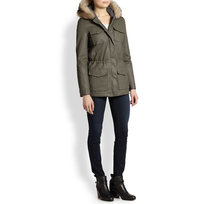 Best Parkas Under $500 - Joie Faux Fur-Trimmed Coated Parka