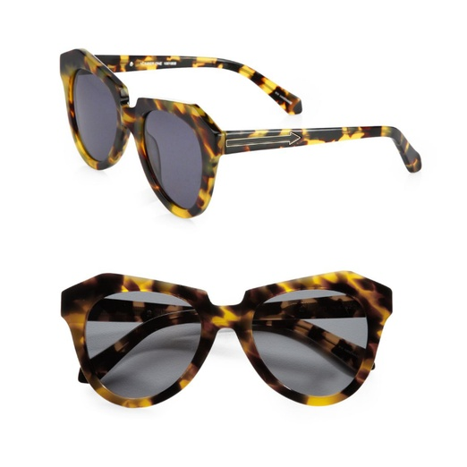Best Sunglasses of All Shapes and Sizes for Spring - Karen Walker Number One Tortoise Acetate Cat's-Eye Sunglasses