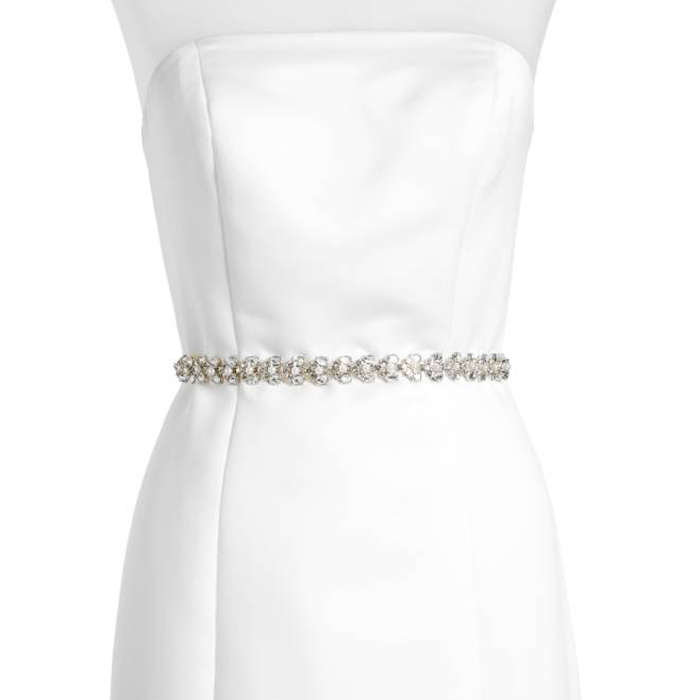 Best Bridal Belts - Kate Spade New York Crystal & Imitation Pearl Belt