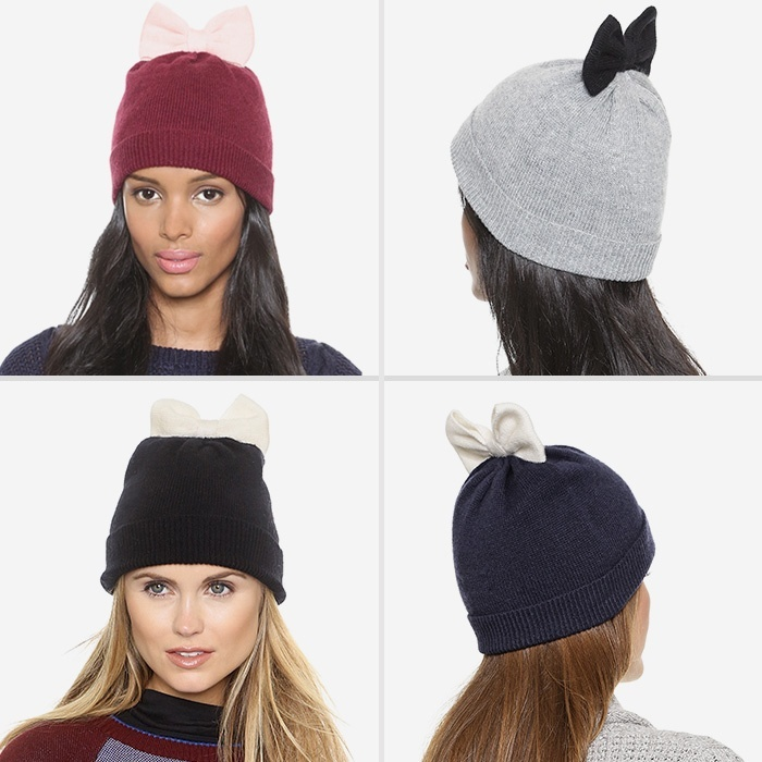 Best Hats & Gloves - Kate Spade New York Colorblock Bow Beanie