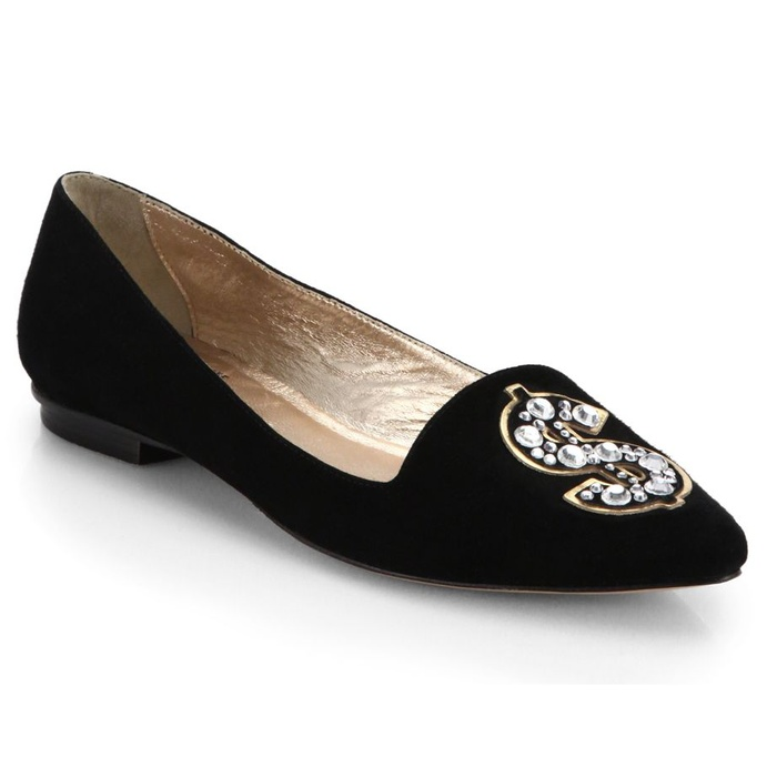 Best Novelty Loafers and Flats - Kate Spade New York Elvie Embellished Suede Flats
