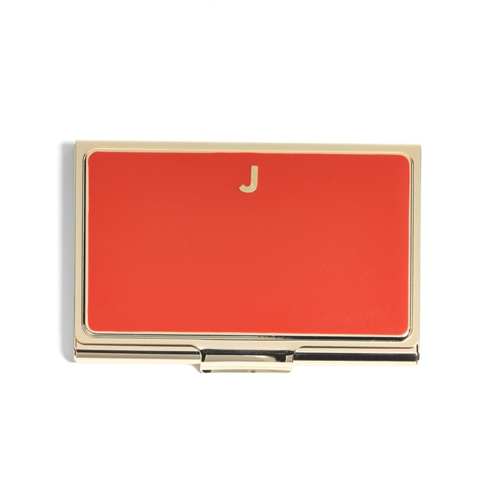 Best Monogrammed Accessories - Kate Spade New York One in A Million Business Card Holder