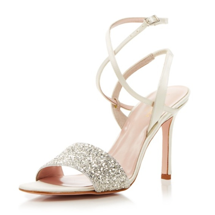 Best Wedding Heels - Kate Spade New York Open Toe Evening Sandals - Ismar Glitter High Heel
