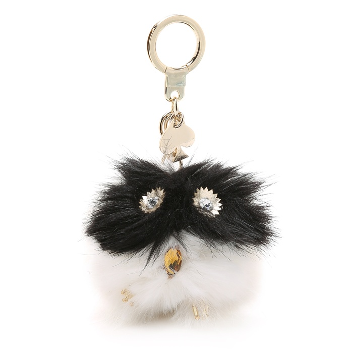 Best Handbag Charms - Kate Spade New York Pom Pom Owl Key Ring