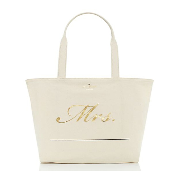 Best Honeymoon Travel Totes - Kate Spade Wedding Belles Customizable Mrs. Tote