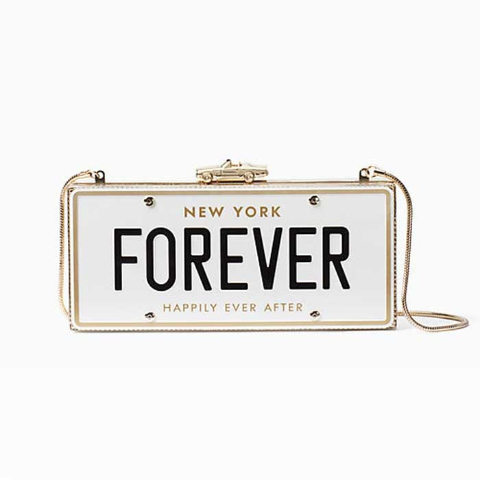 Best Bridal Handbags - Kate Spade Wedding Belles License Plate Clutch