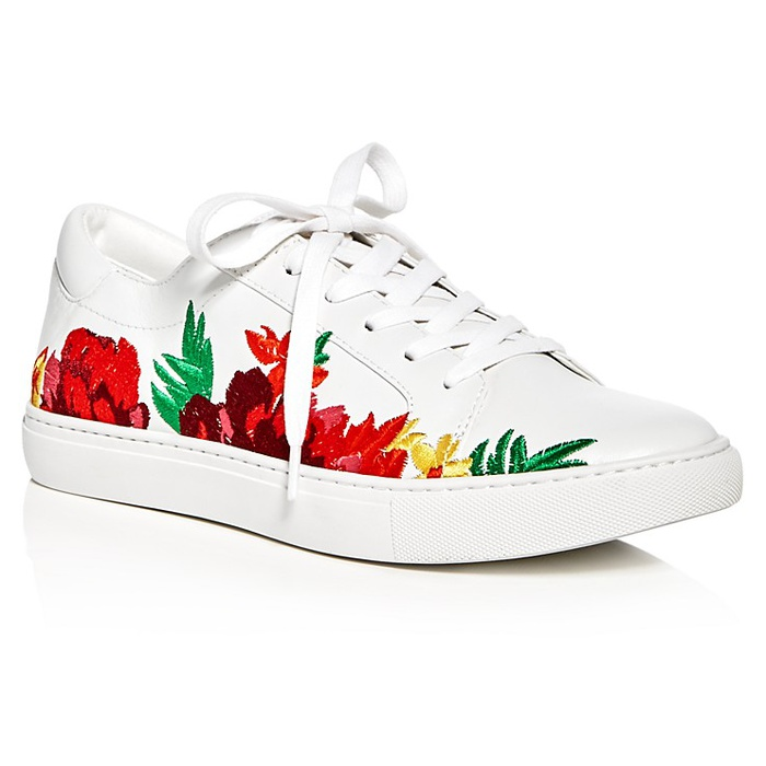 Best Embroidered Shoes - Kenneth Cole Kam Embroidered Lace Up Sneakers