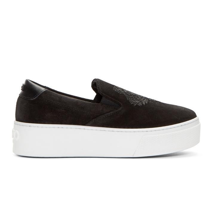Kenzo Suede Slip-On Platform Sneakers | Rank & Style