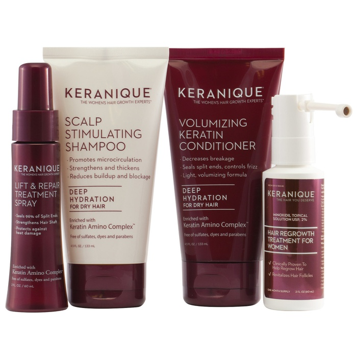 Best Hair Gift Sets - Keranique Deluxe Regrowth Hair System