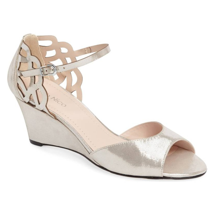Best Bridal Wedges - Klub Nico Karina Cutout Sandal