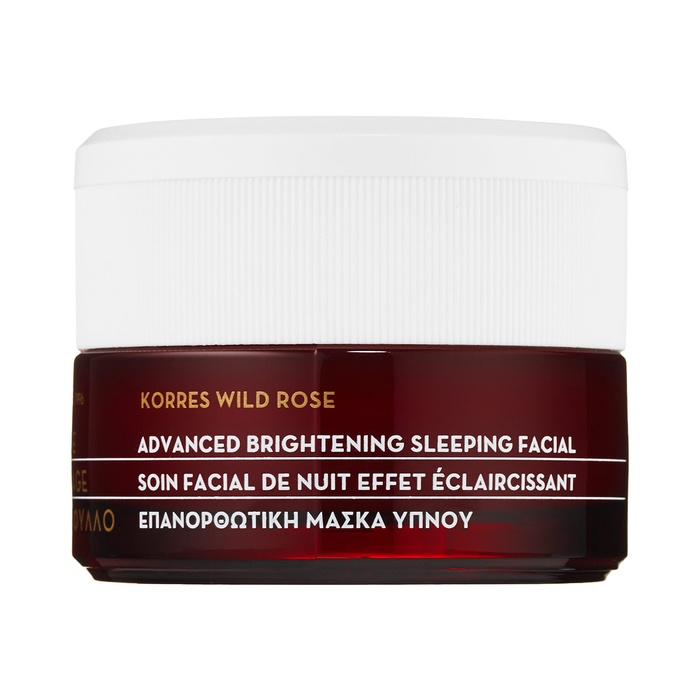 Best Natural Face Masks - Korres Wild Rose + Vitamin C Advanced Brightening Sleeping Facial