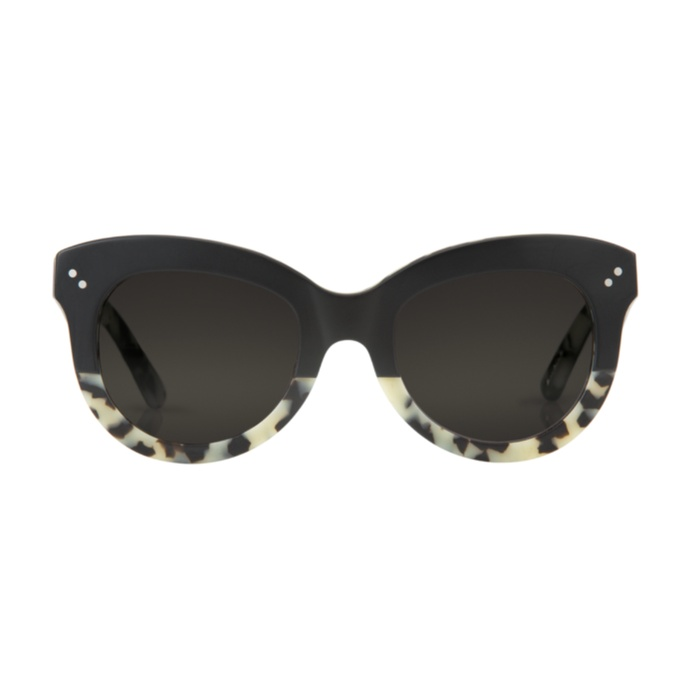 Best Sunglasses For A Round Face - Krewe Julia Matte Black To Au Lait