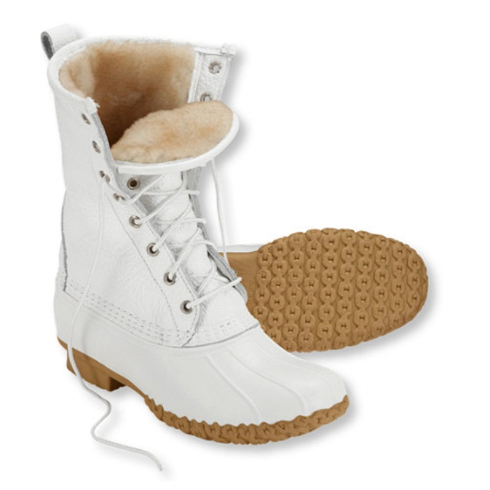 "Best For the Ski Bunnies and Snow Angels - L. L. Bean Women's Bean Boots, 10"" Shearling-Lined"