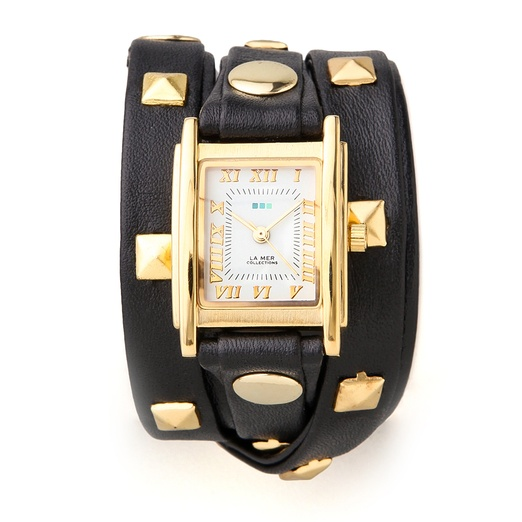 Best Trendy Watches - La Mer Collections Pyramid Stud Wrap Watch