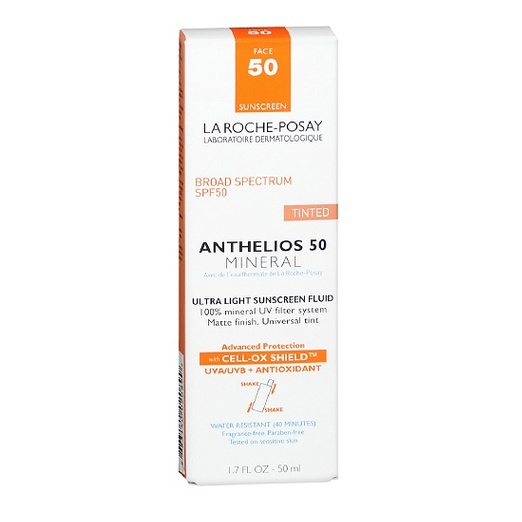 Best Facial Sunscreens - La Roche-Posay Anthelios 50 Mineral Tinted Ultra Light Sunscreen Fluid