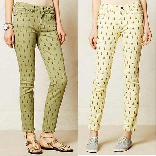 Best It's Raining Pineapples - Labdip Lana Skinny Jeans