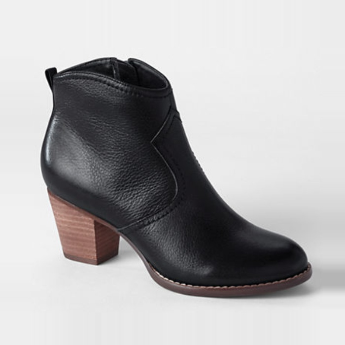 Silence   Noise Half-Stacked Heeled Ankle Boot | Rank & Style