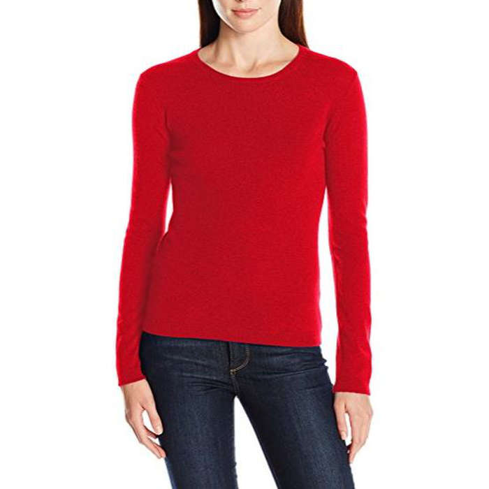 Best Women's Cashmere Sweaters Under $200 - Lark & Ro 100% Cashmere Slim-Fit Basic Crew Neck Sweater