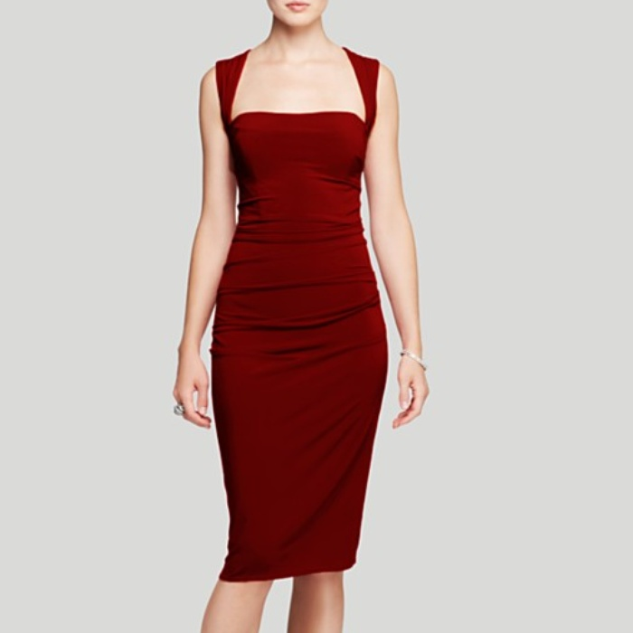 Best Dresses Under $250 for Summer Weddings - Laundry by Shelli Segal Square Neck Cross Back Jersey Dress