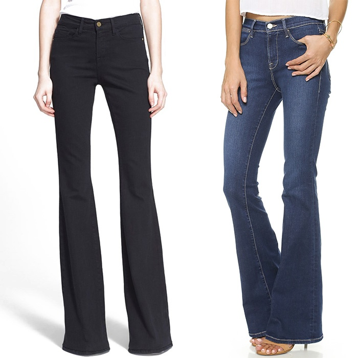 Best Winter Jeans - FRAME Denim Le High Flare Jeans and Forever Karlie Flare Jeans