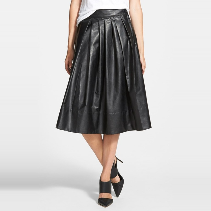 Best Pleated Faux Leather Skirts - Leith 'Town' Pleated Skirt